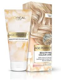 Dream Age Color Chart Age Perfect Colour Care Grey Hair Toner Beige Blonde