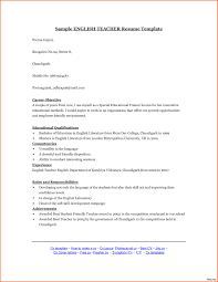 Resume Samples For Experienced English Teachers Save Curriculum