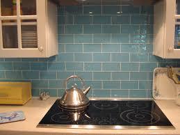 kitchen backsplash glass tile blue. Lush Sky 3x6 Blue Glass Subway Tile Kitchen Backsplash Installation L