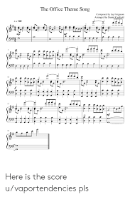 The Office Theme Song Composed By Jay Ferguson Arranged By
