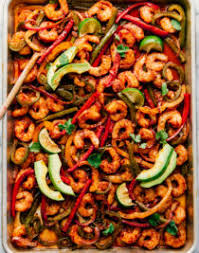 sheet pan shrimp fajitas creamy cajun shrimp pasta the food cafe