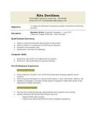 Sample College Resume High School Senior Application Resume Template