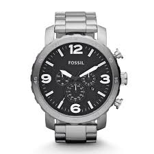 nate chronograph stainless steel watch fossil nate chronograph stainless steel watch
