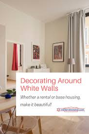 decorating around the white walls of a al