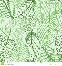 De Groene Achtergrond Van Het Bladeren Naadloze Patroon Vector
