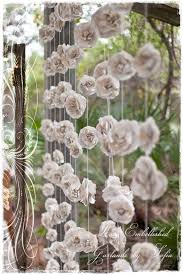 Paper Flower Backdrop Garland Curtain Of 12 Garlands Paper Flowers Roses Garland Backdrop From