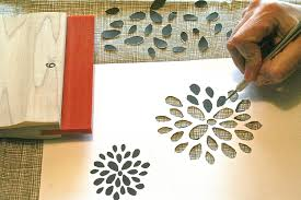 Handmade Wallpaper Design How To Make Diy Screenprinted Stencil Wall Paper Dear