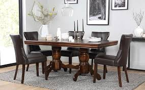 extending dining table and bench set fresh sworth dark wood extending dining table and 6 chairs