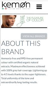 Kemon Nayo Permanent Hair Color Ammonia Ppd Free Made