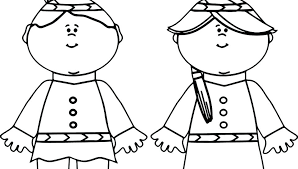 Pilgrim Girl Coloring Page At Getdrawingscom Free For Personal