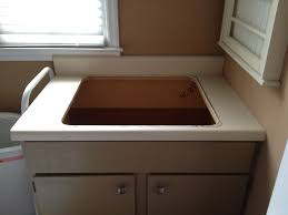 utility sink with countertop. Exellent Utility Ready For New Utility Tub In Utility Sink With Countertop I