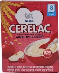 Nestle Cerelac Wheat Apple Cherry Stage 2 Cereal