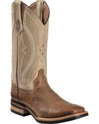 zoomed image ferrini distressed kangaroo cowboy boots wide square toe antique saddle hi res
