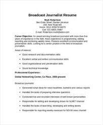 Entry level journalism resume