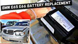 BMW 3 Series used bmw battery : BMW E65 E66 BATTERY REPLACEMENT without Code RESETTING - YouTube