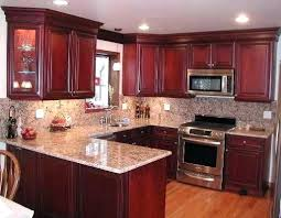 cherry cabinets with quartz countertops cherry kitchen
