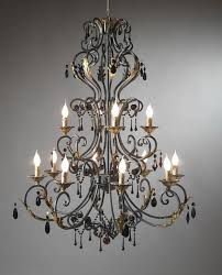 living marvelous wrought iron chandeliers rustic