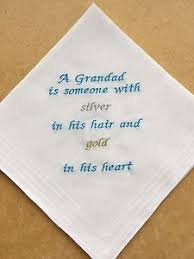 image is loading personalised father grandad grandfather handkerchief gift