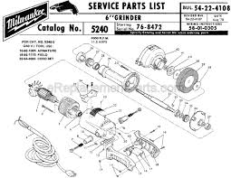 milwaukee 5240 parts list and diagram ser 76 8472 milwaukee 5240 parts list and diagram ser 76 8472 ereplacementparts com