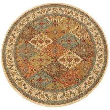 persia almond buff 8 ft x 8 ft round indoor area rug