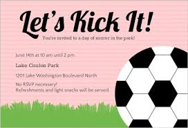 Soccer Party Invitation Template Pink Soccer Ball Sports Party Invitation