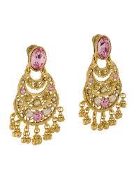 crystal filigree chandelier earrings