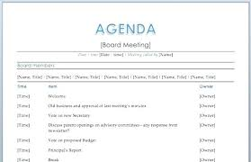 Agenda Examples Amazing 48 School Agenda Templates Free Samples Examples Format High Course