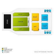 Waco Hippodrome Theatre 2019 Seating Chart