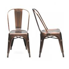 xavier pauchard x2 vintage copper xavier pauchard tolix style side chair chairs xavier pauchard