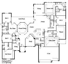5 bedroom floor plans. Super Cool Ranch Floor Plans 5 Bedrooms 14 Bedroom House 3 Three On Modern Decor Ideas O