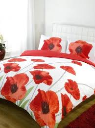 red poppy duvet cover and curtains flower covers poppies bedspread single bedding set bedrooms winsome