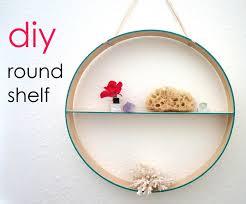 round diy shelf in a few easy steps