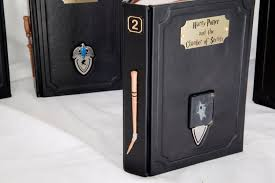 set of 7 leather bound harry potter books with horcrux bookmarks art and wands included