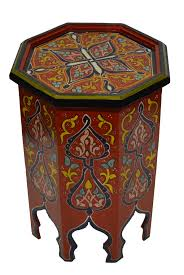 moroccan furniture decor. Handmade Wood Painted Table Red Moroccan Furniture Decor O