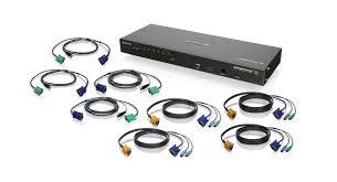iogear gcs1808ikit 8 port ip based kvm kit ps 2 and usb 8 port ip based kvm kit ps 2 and usb kvm cables