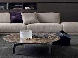 low coffee table. Low Round Oak Coffee Table TRIBECA | By Poliform A