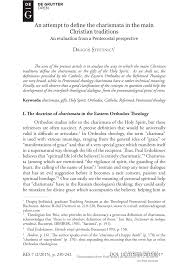 pdf an attempt to define the charismata in the main traditions