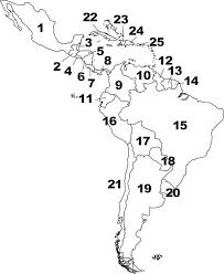 North And South America Blank Map Central And South America Map Blank Yupar Magdalene