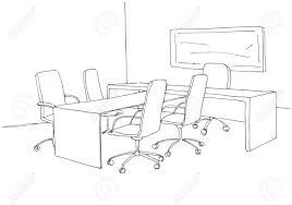 office chair drawing. Modren Chair Office In A Sketch Style Hand Drawn Office Desk Chair Vector  Illustration For Chair Drawing