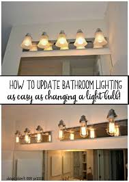 bathroom lighting it s as easy as changing a how to change bathroom light fixture to