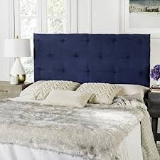 velvet headboard queen. Perfect Queen Safavieh Martin Navy Blue Velvet Upholstered Tufted Headboard Queen For Queen B