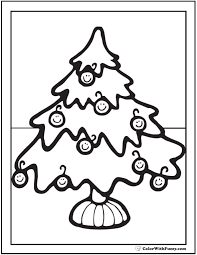 Christmas ornament coloring page free printable pages with. Christmas Tree Ornaments Coloring Printable