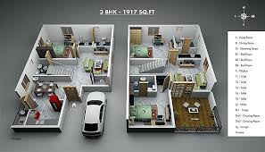 3d house plan 3 bedroom house plans design 9 3d house plan
