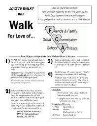 Faith Christian Academy Donation Opportunities Walk A Thon