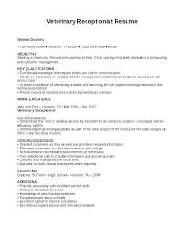 Receptionist Resume Sample Inspiration Sample Of A Receptionist Resume Medical Receptionist Resume Example