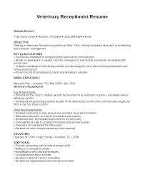 Receptionist Resume Sample Inspiration Sample Of A Receptionist Resume Medical Receptionist Resume Example
