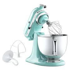 blue kitchenaid mixer aqua sky 5 quart artisan tilt head stand mixer kitchenaid ice blue hand