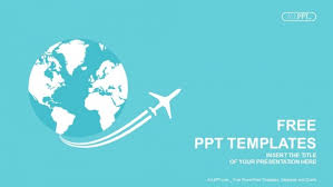 Ppt Templates Download Jet Airplane Travel On Earth Powerpoint Templates