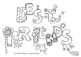 Small Picture Best Friends Colouring Page