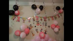 minnie mouse birthday party easy ideas
